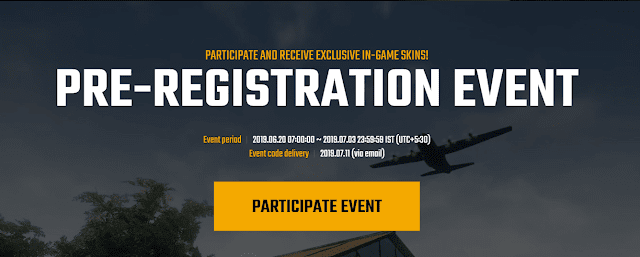 pubg lite event pre-registeration