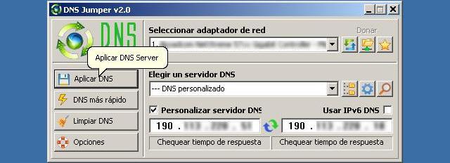 Cambiar DNS con DNS Jumper - Solo Nuevas