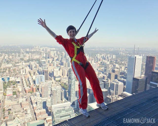 Michelle doing Edgewalk