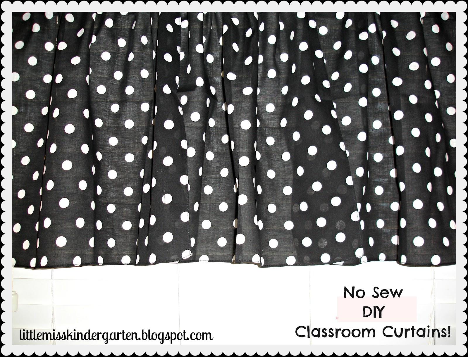 Classroom Diy Diy No Sew Classroom Curtains