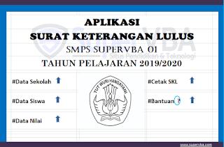 Aplikasi Surat Keterangan Lulus (SKL) Untuk SD dan SMP Tahun 2020