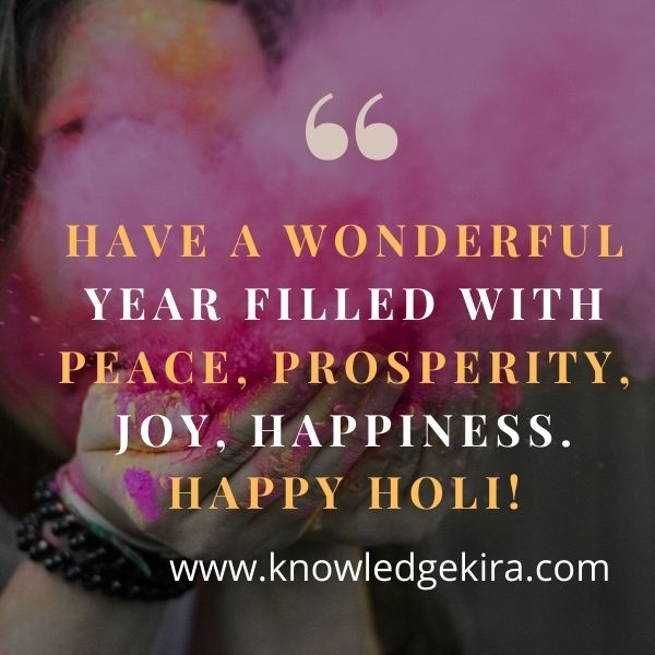 Happy Holi wishes family in English 2021