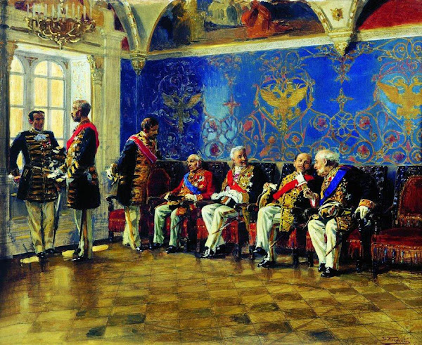 Маковский Владимир Егорович - В ожидании аудиенции. 1904