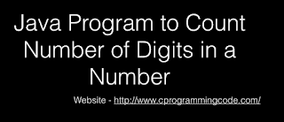 Java Program to Count Number of Digits in a Number