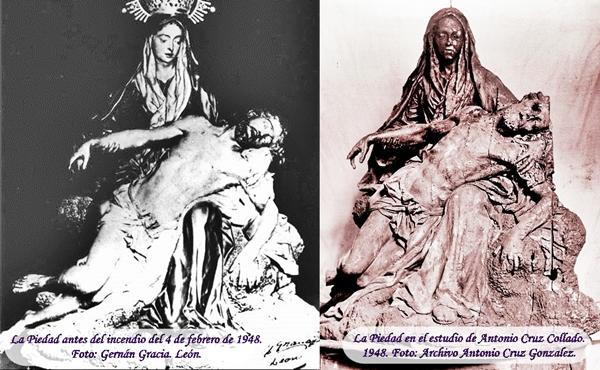 Nuestra Señora de la Piedad. Iglesia de San Martín. Real cofradía de Minerva y Vera Cruz. León. Fotos G. Gracia y Antonio Cruz González.
