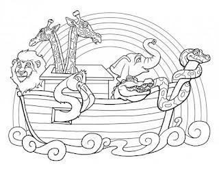 סיפור תיבת נוח לצביעה