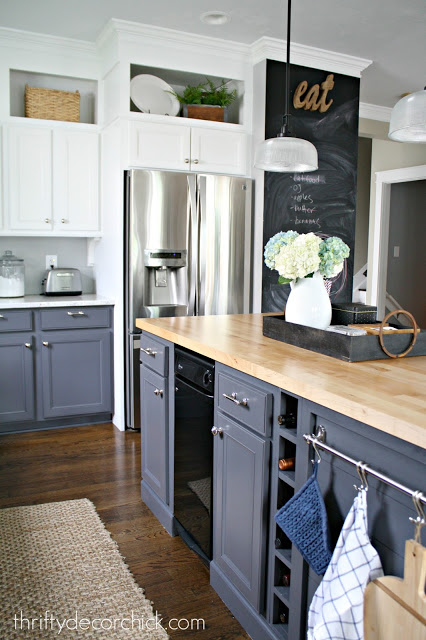 Two toned kitchen makeover gray lowers