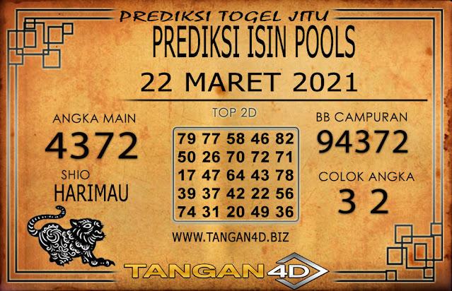 PREDIKSI TOGEL ISIN TANGAN4D 22 MARET 2021
