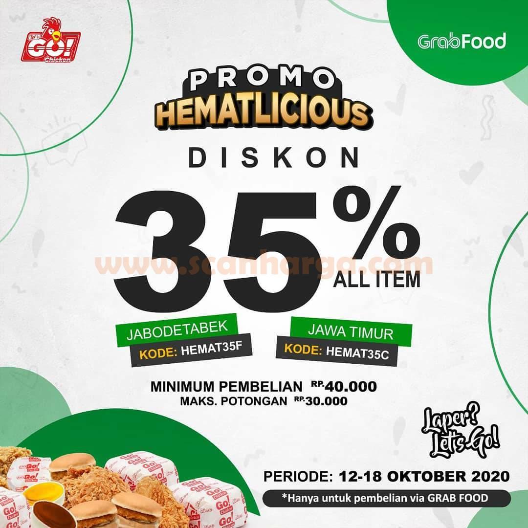 Let's Go Chicken Promo HematLicious Diskon 35% All Item via Grabfood