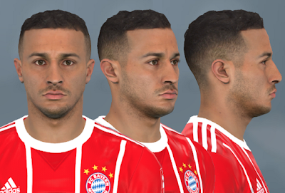 PES 2017 Faces Thiago Alcantara by WER Facemaker