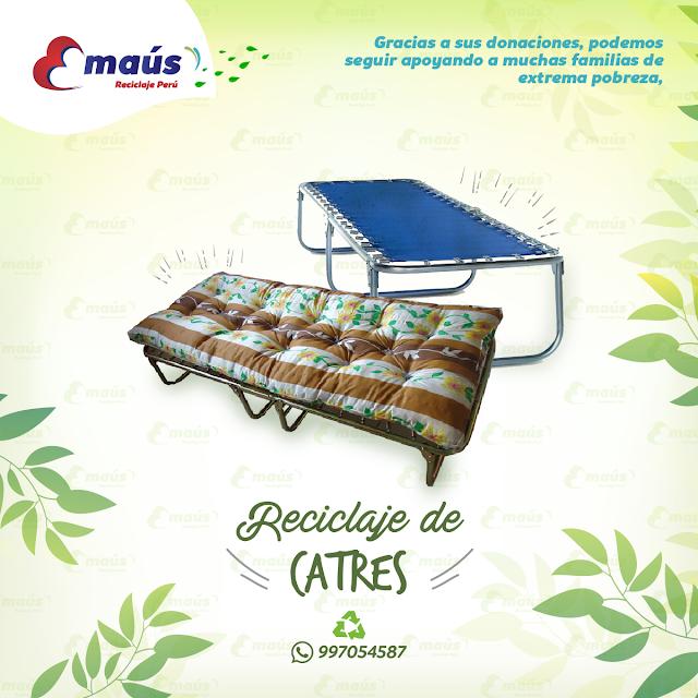 Reciclaje de Catres en desuso - Emaús Reciclaje Perú