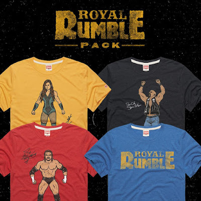 WWE Royal Rumble 2020 T-Shirt Collection by HOMAGE