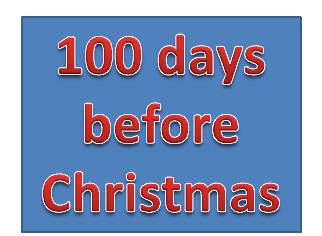 How Many Days Before Christmas.Theology And Medicine What Does 100 Days Before Christmas Mean