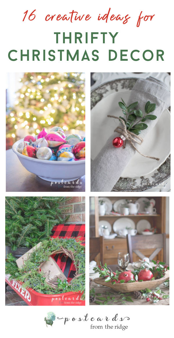 thrifty christmas decor ideas