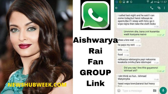 Join 2+ Aishwarya Rai Fans Club WhatsApp Groups Links Latest Update