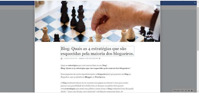 Artigo na ferramenta Nota da Fanpage.