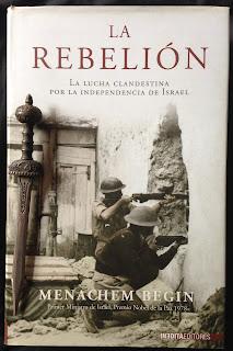 Portada del libro La rebelión, de Menachem Begin