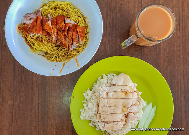 chicken rice and chicken noodles Singapore