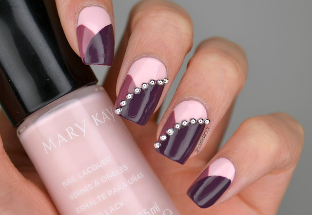 Purple Nail Art Mary Kay