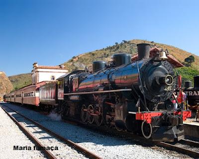 Passeio de trem Maria Fumaça em Ouro Preto-MG