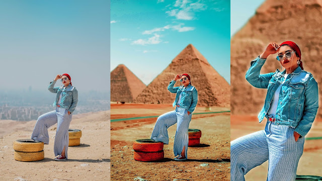 Lesson photo processing with natural colors + the composition of the sky and pyramids