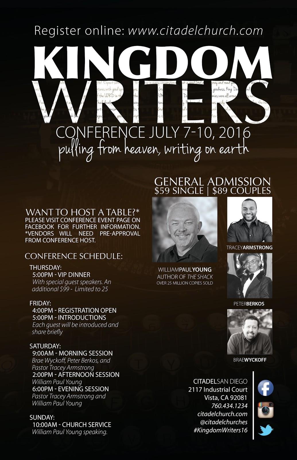 Kingdom Writers Conference- San Diego