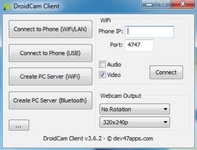 Cara Membuat HP Android Menjadi Webcam di Laptop Dan PC