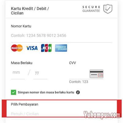 kartu kredit cicilan tokopedia