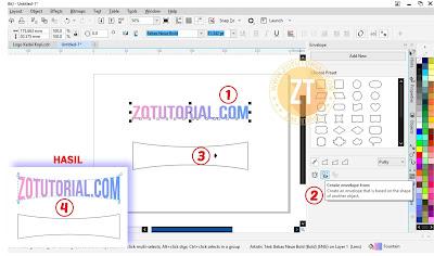 Langkah 2 Membuat Text/Tulisan Mengikuti Bentuk Objek di CorelDraw
