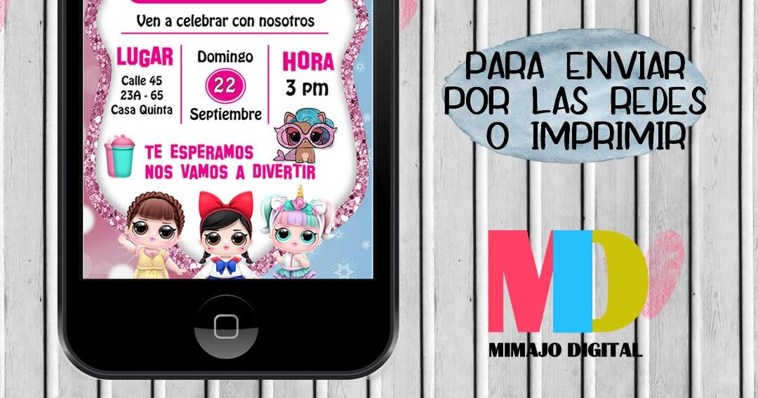 Mimajo Digital Tarjeta De Invitación Digital De Lol Para