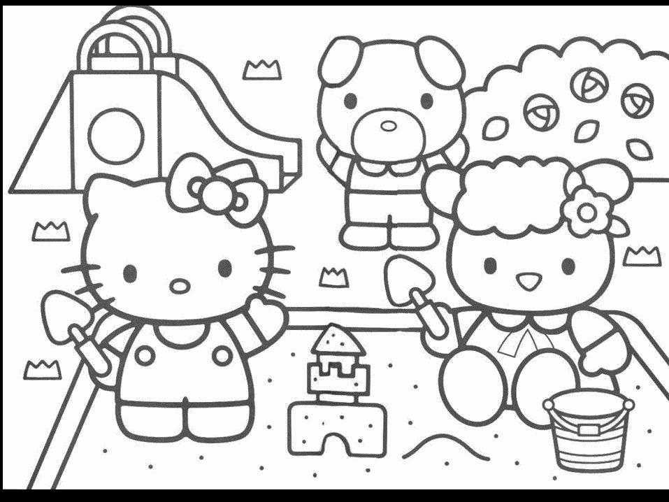 Riscos Para Colorir Gratis Desenhos Para Colorir Hello Kitty