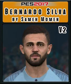 PES 2017 Faces Bernardo Silva by Sameh Momen