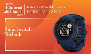 smartwatch terbaik pricebook 2020 garmin instinct solar