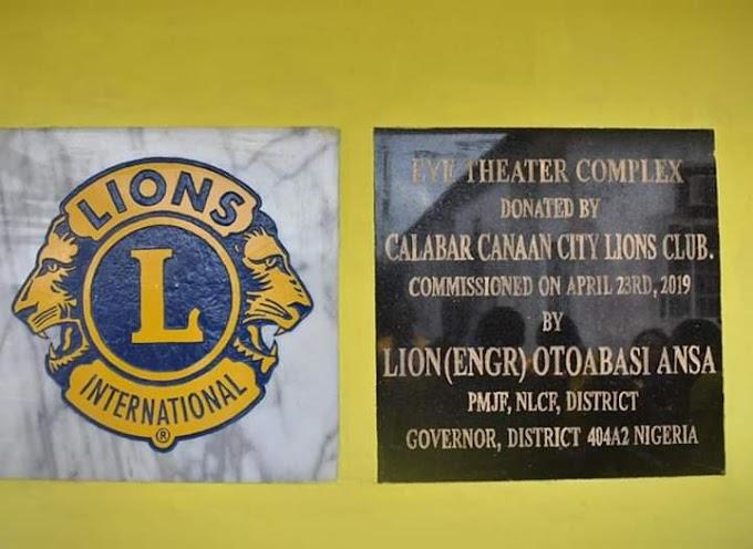 Lions Club and Tusli Chanri Foundation donates Eye Theatre complex to General Hospital Calabar