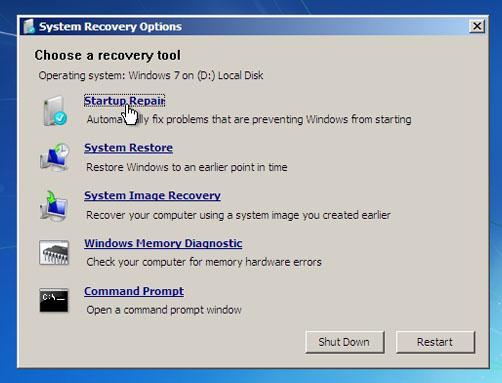 حل مشكلة اقلاع الويندوز في ويندوز 7 و 8 عالم الكمبيوتر