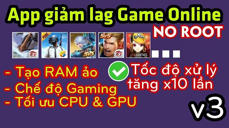 Ứng dụng Tạo RAM ảo, Tối ưu hiệu suất CPU,GPU, Tăng tốc ĐT lên x10 lần giúp chơi game Mượt mà│NO ROOT