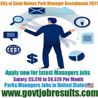City of Saint Helens Parks Manager Recruitment 2021-22