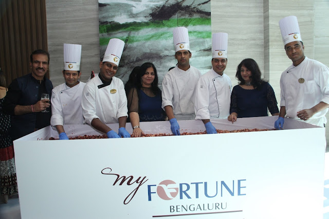 Cake Mixing at My Fortune Bengaluru