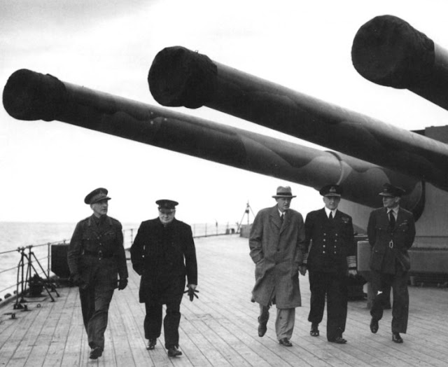 Prime Minister Winston Churchill aboard HMS Prince of Wales, 12 August 1941 worldwartwo.filminspector.com