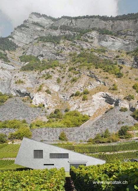 Casa rural de diseño contemporáneo original en Suiza