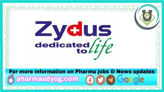 Zydus Cadila | Walk-in interview for freshers in Apprentice  on 8,9,10th April 2021