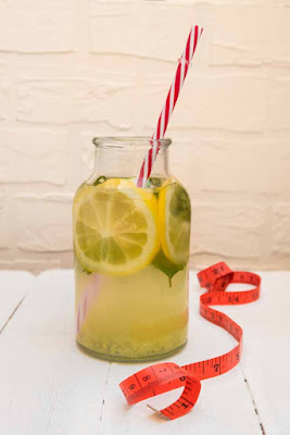 Drink flat tummy lemon water