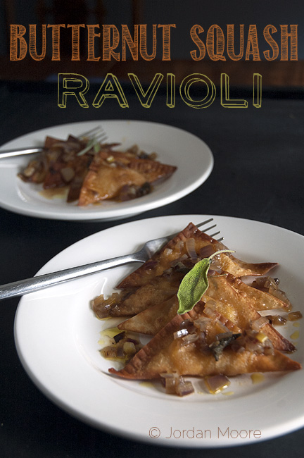 Meatless Monday: Butternut Squash Ravioli with Shallot Herb Reduction
