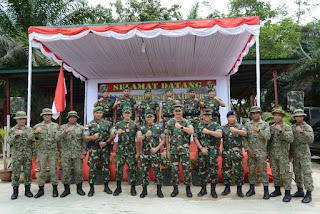 Pangdam XII/Tpr Kunjungi Pos Kotis Gabma Entikong