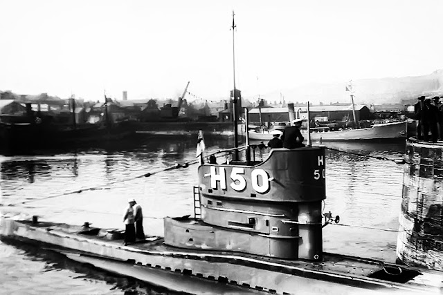H50 Submarine Visiting Whitehaven, 1934