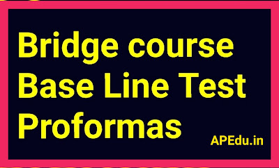 Bridge course Base Line Test Proformas