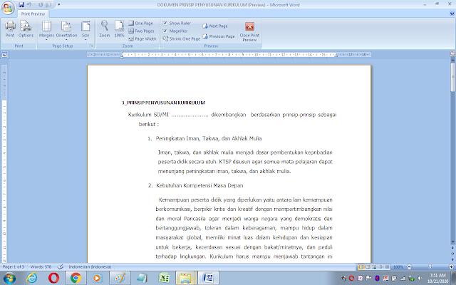 Dokumen prinsip penyusunan kurikulum 2013