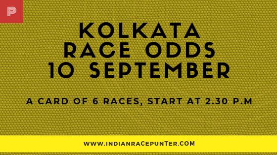 Kolkata Race Odds 10 September