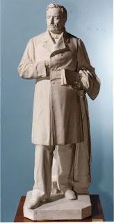 Escultura d'Aribau feta per Manel Fuxà i conservada al Museu Víctor Balaguer.