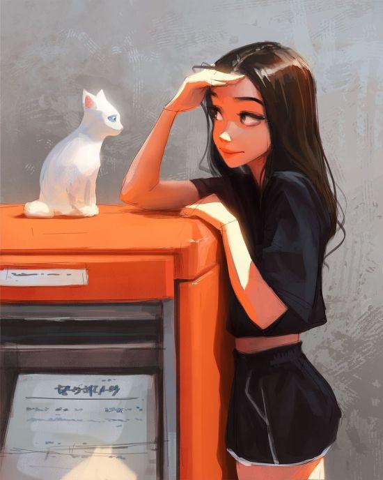 Sam Yang instagram arte ilustrações mulheres singelas cotidiano